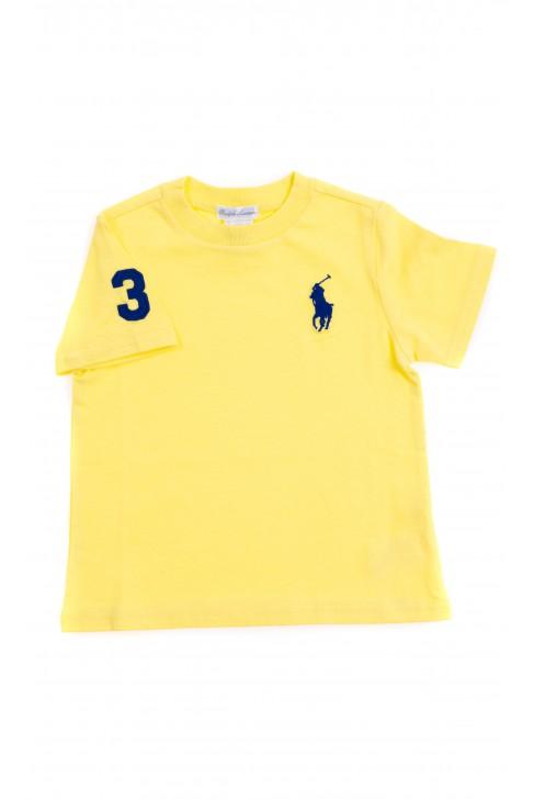 Żółty t-shirt z szafirowym konikiem, Polo Ralph Lauren