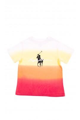 Pastelowy t-shirt dziecięcy na krótki rękaw, Polo Ralph Lauren