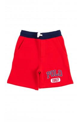 Czerwone krótkie spodenki dresowe, Polo Ralph Lauren