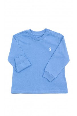 Niebieski t-shirt na długi rękaw, Polo Ralph Lauren