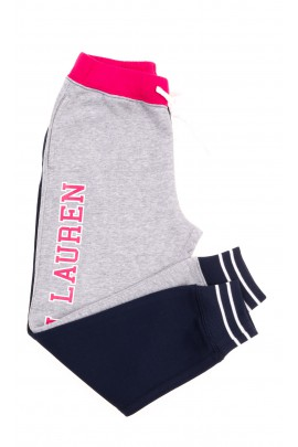 Spodnie dresowe dziewczęce 2-kolorowe Polo Ralph Lauren