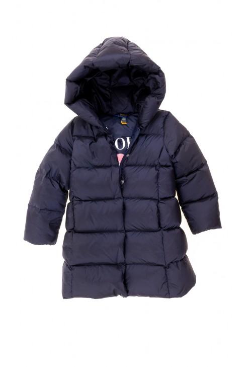 Granatowy płaszcz puchowy dziewczęcy, Polo Ralph Lauren