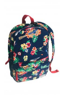Granatowy plecak z motywem kwiatowym, Polo Ralph Lauren