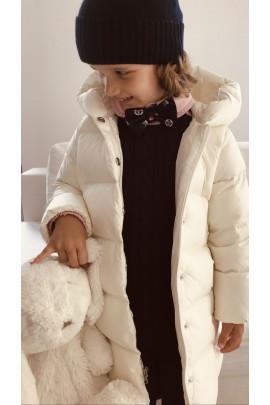 Biały płaszcz puchowy dziewczęcy, Polo Ralph Lauren