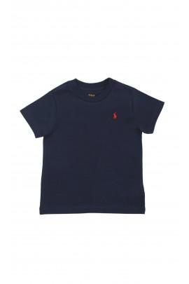 Granatowy t-shirt chłopięcy na krótki rękaw, Polo Ralph Lauren