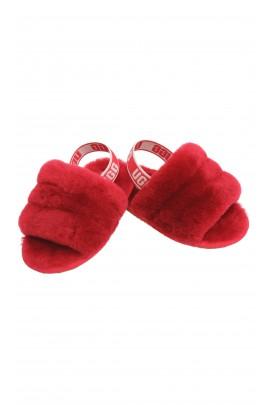 Sandałki klapki dziecięce z futerkiem, UGG