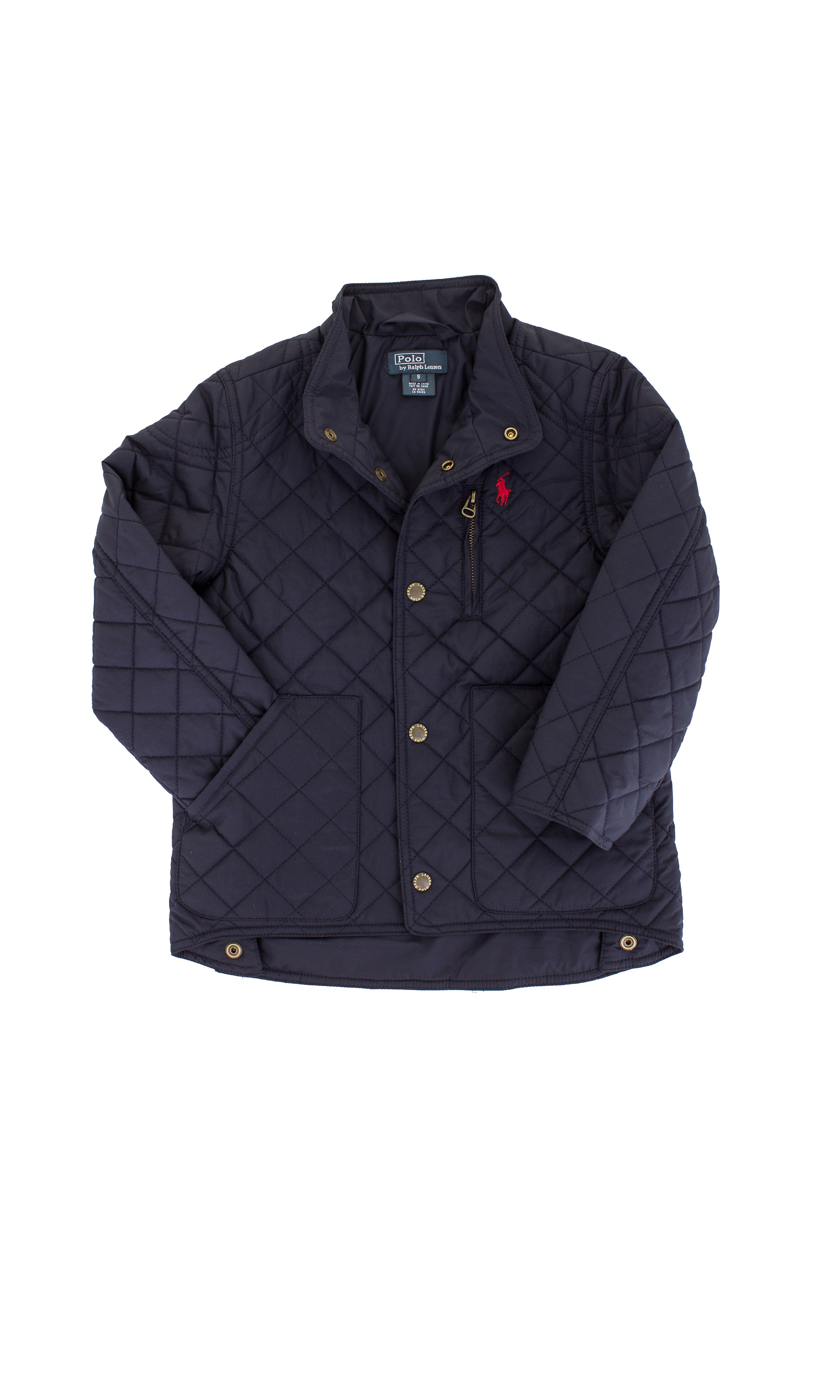 2ed4d39aa6e63 Pikowana granatowa kurtka Polo Ralph Lauren - Celebrity-Club