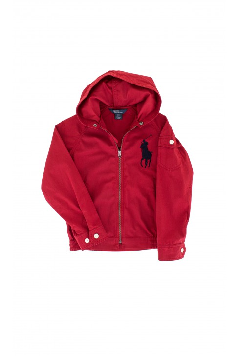 Red hooded coat, Polo Ralph Lauren