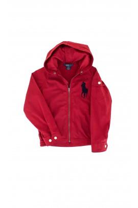 Czerwona kurtka z kapturem Polo Ralph Lauren