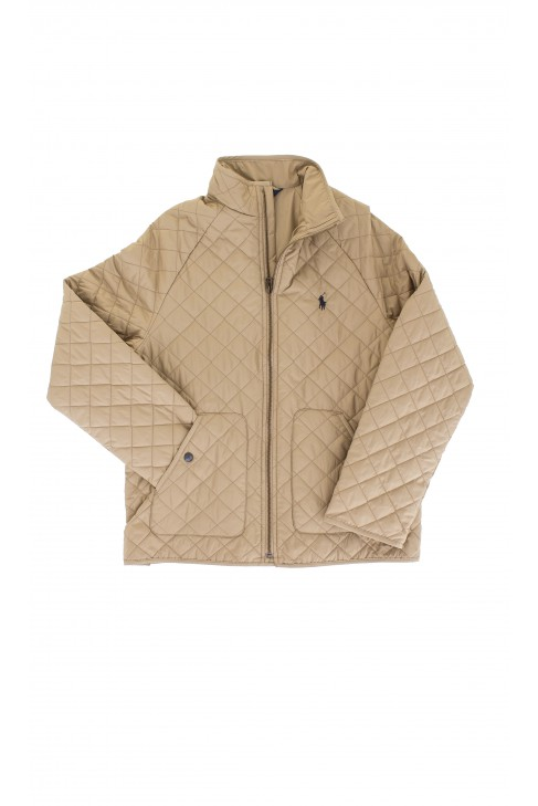 Quilted khaki coat, Polo Ralph Luren