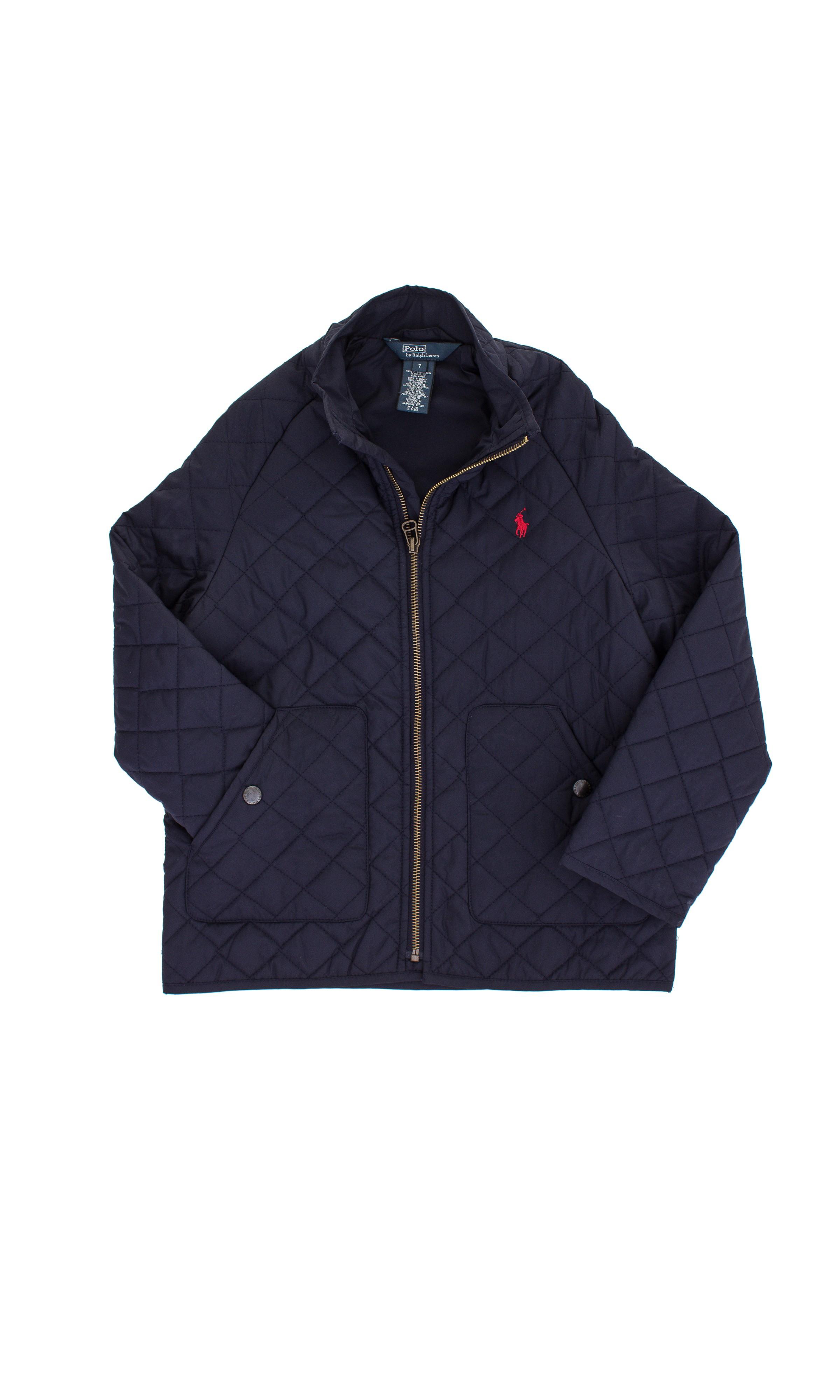 f63d70a5788c4 Pikowana kurtka granatowa Polo Ralph Lauren - Celebrity-Club