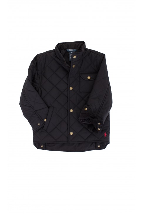 Pikowana czarna kurtka Polo Ralph Luren