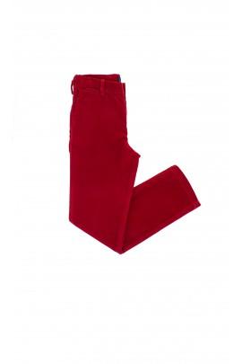 Spodnie sztruksowe ciemnoczerwone,Polo Ralph Lauren