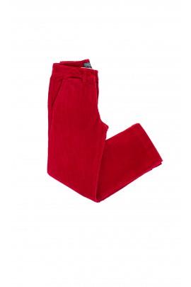 Spodnie sztruksowe czerwone z zielonym konikiem, Polo Ralph Lauren