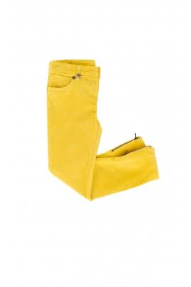 Spodnie sztruksowe żółte Ralph Lauren