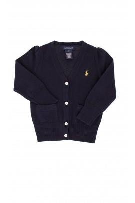 Sweter granatowy, rozpinany Ralph Lauren