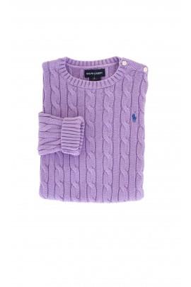 Sweter fioletowy Ralph Lauren