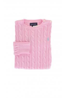 Sweter różowy, Ralph Lauren