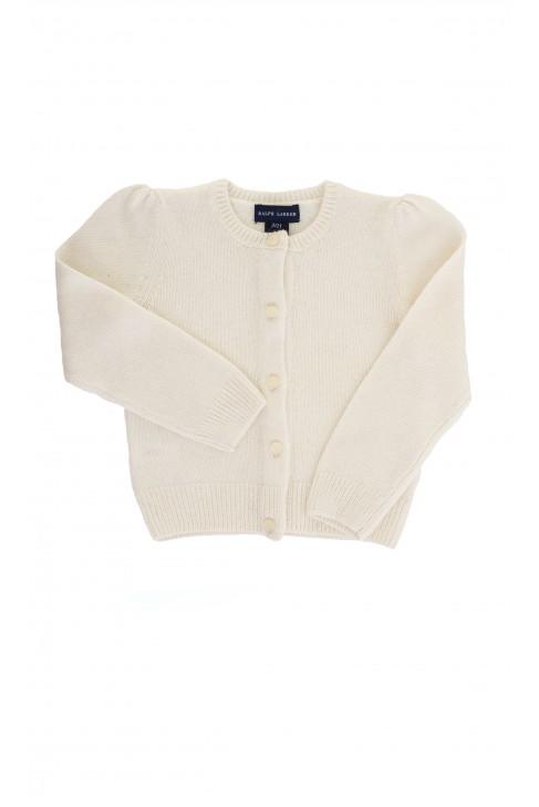 Sweter ecru rozpinany, Ralph Lauren