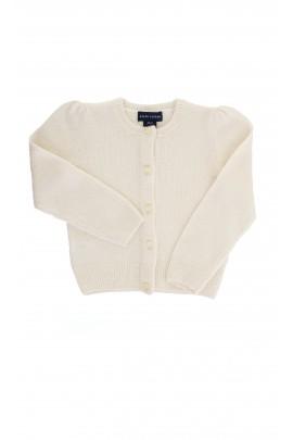 Sweter ecru rozpinany Ralph Lauren