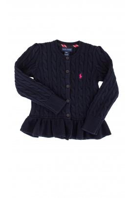 Sweter granatowy na guziki, Ralph Lauren