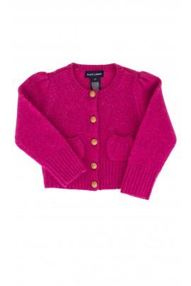 Sweter amarantowy Ralph Lauren