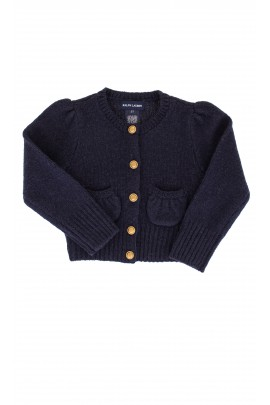Sweter granatowy, Ralph Lauren