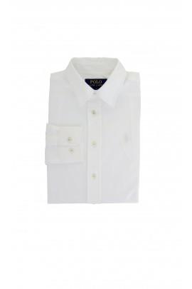 Elegancka biała koszula z białym konikiem, Polo Ralph Lauren