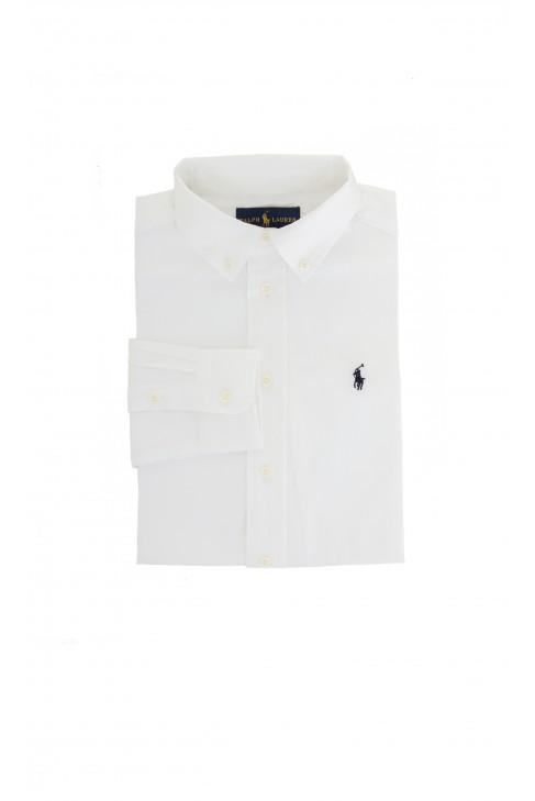 Elegant white shirt with navy blue pony, Ralph Lauren