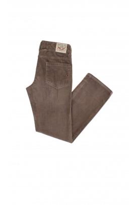 Spodnie sztruksowe szarobrązowe Tommy Hilfiger