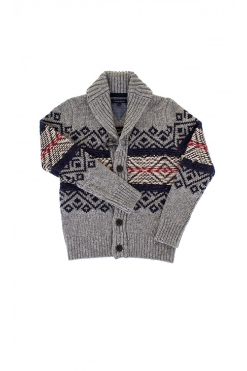 Sweter szary we wzory, Tommy Hilfiger