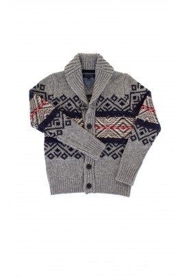 Sweter szary we wzory Tommy Hilfiger