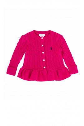 Różowy (fuksja) sweter Ralph Lauren