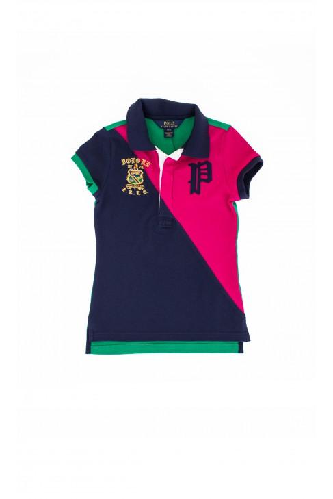 Green-navy blue-pink polo shirt, Polo Ralph Lauren
