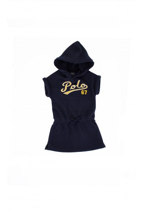Navy blue hooded polo dress, Ralph Lauren