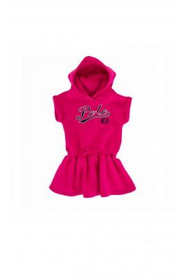Różowa sukienka polo z kapturem, Ralph Lauren