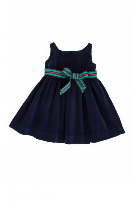 Granatowa sukienka sztruksowa Ralph Lauren