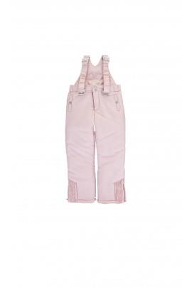 Różowe spodnie narciarskie z szelkami Tartine et Chocolat