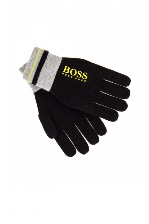 Black gloves, Hugo Boss
