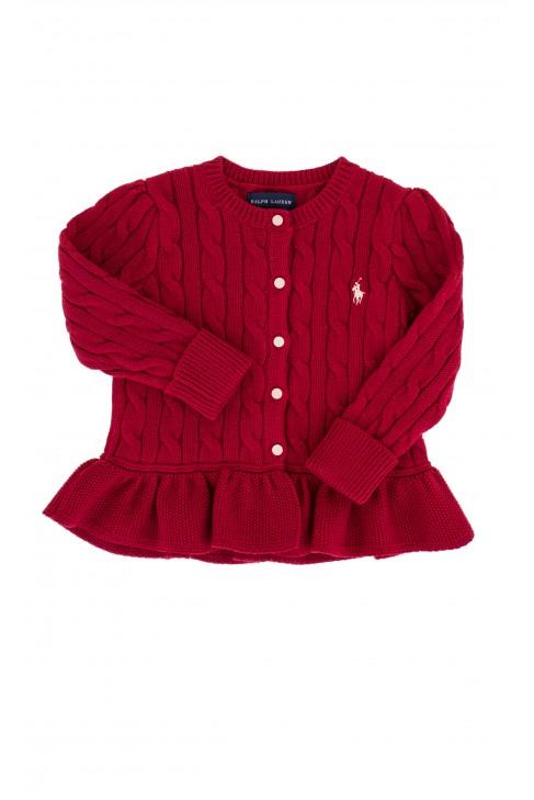 Red frilled sweater, Ralph Lauren