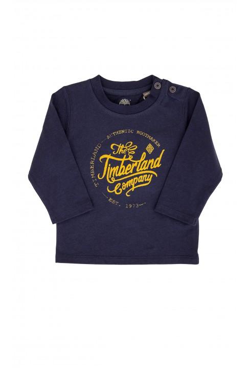 Granatowy chłopięcy t-shirt Timberlanda