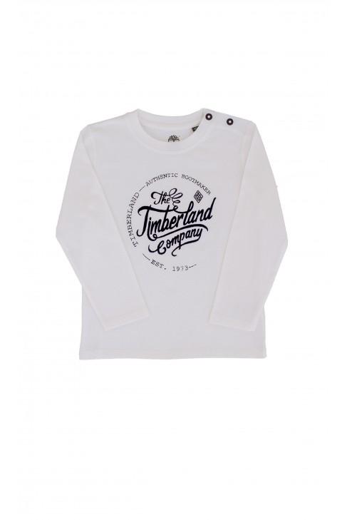 Biały t-shirt chłopięcy, Timberland
