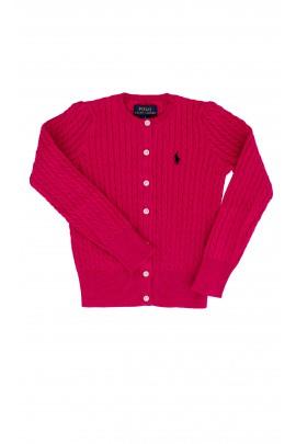 Różowy, rozpinany sweter Polo Ralph Lauren