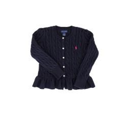 Navy blue frilled sweater, Ralph Lauren