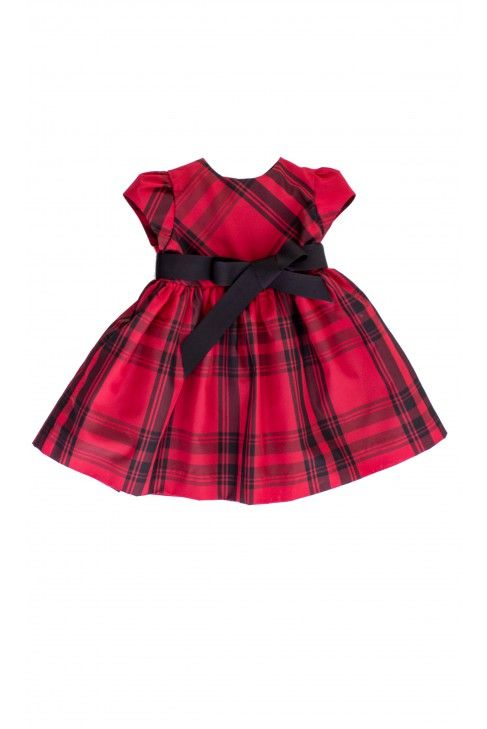 Silk dress in red-and-black checker, Polo Ralph