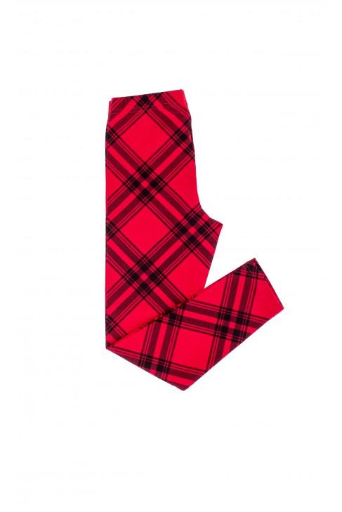 Girl's leggings in red-and-black checker, Polo Ralph Lauren