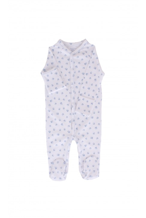 White boy's rompers with blue cubes, Ralph Lauren