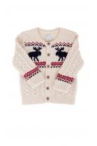 Sweter w kolorze écru ze świątecznym wzorem Ralph Lauren