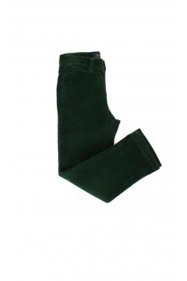 Welurowe, zielone spodnie chłopięce Polo Ralph Lauren