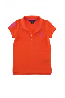 Bluzka polo, pomarańczowa letnia, Polo Ralph Lauren